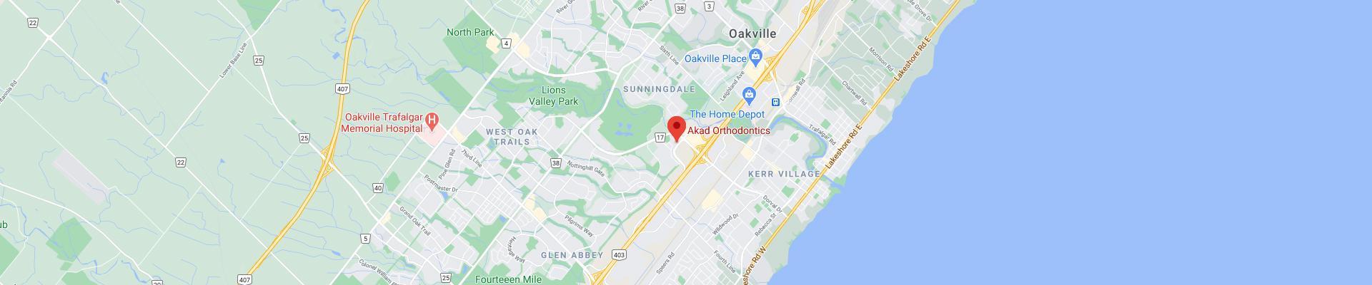 Akad-Orthodontics-Oakville-ON-Footer-Map